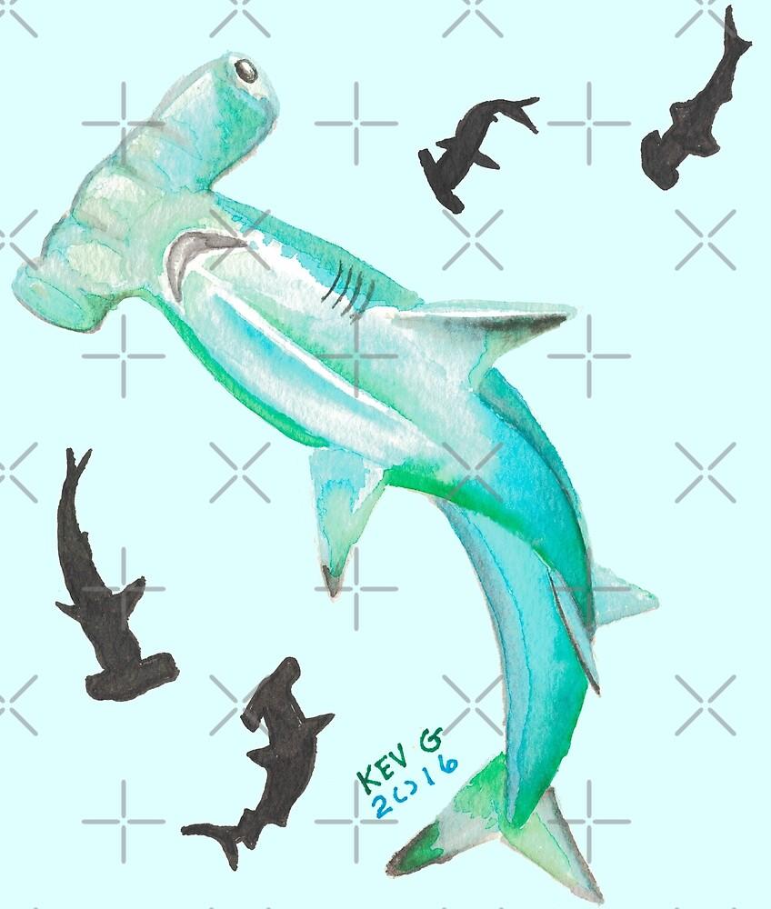Hammerhead Shark - Art By Kev G by ArtByKevG
