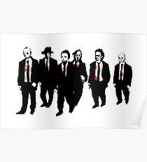 Reservoir Horror Icons Poster