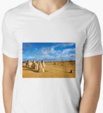 Pinnacles Desert - Nambung National Park, Western Australia Men's V-Neck T-Shirt