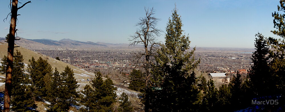 View of Boulder from the trails by MarcVDS