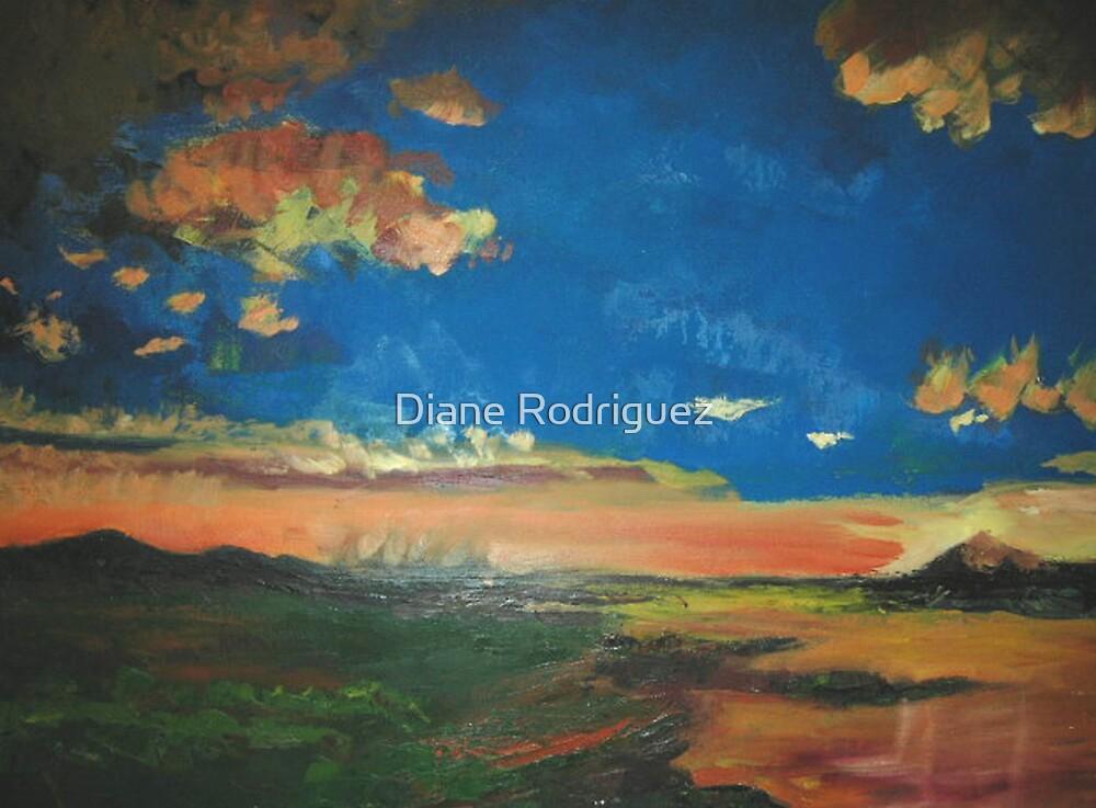 Taos Desert Canyon Sunset by Diane Rodriguez