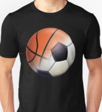Soccer Ball and Basketball Themes Slim Fit T-Shirt