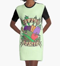 PLANT BASED VEGAN Graphic T-Shirt Dress