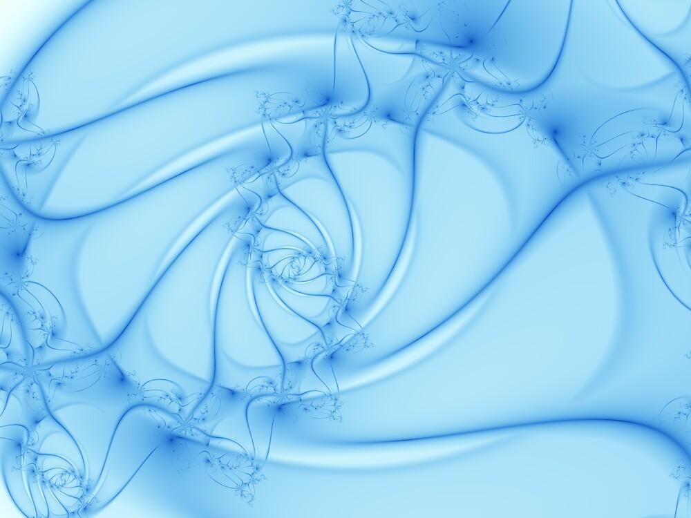 Blue Spiral 2 by Vicky Brago-Mitchell
