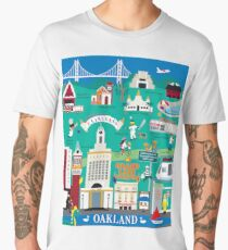 Oakland, California - Collage Illustration by Loose Petals Men's Premium T-Shirt