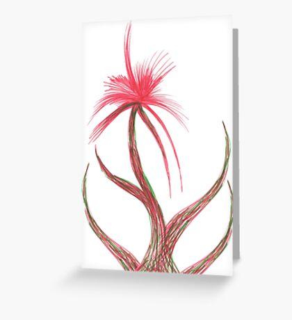 Ruby Flower Greeting Card