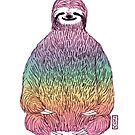 Yoga Rainbow Sloth by JGVart