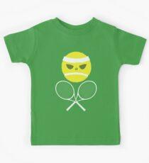 Tennis Totenkopf mit gekreuzter Knochen Kinder T-Shirt