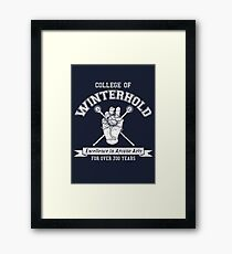 Skyrim - College of Winterhold Framed Print