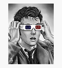 Tenth Doctor 3D Glasses Photographic Print