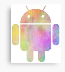Watercolor Android Logo Canvas Print