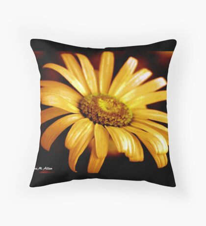PAINTED DAISY Throw Pillow