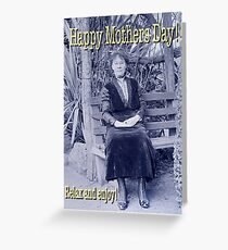 Mothers Day Edwardian Lady on Bench Greeting Card