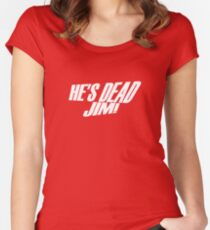 He's Dead, Jim! Women's Fitted Scoop T-Shirt