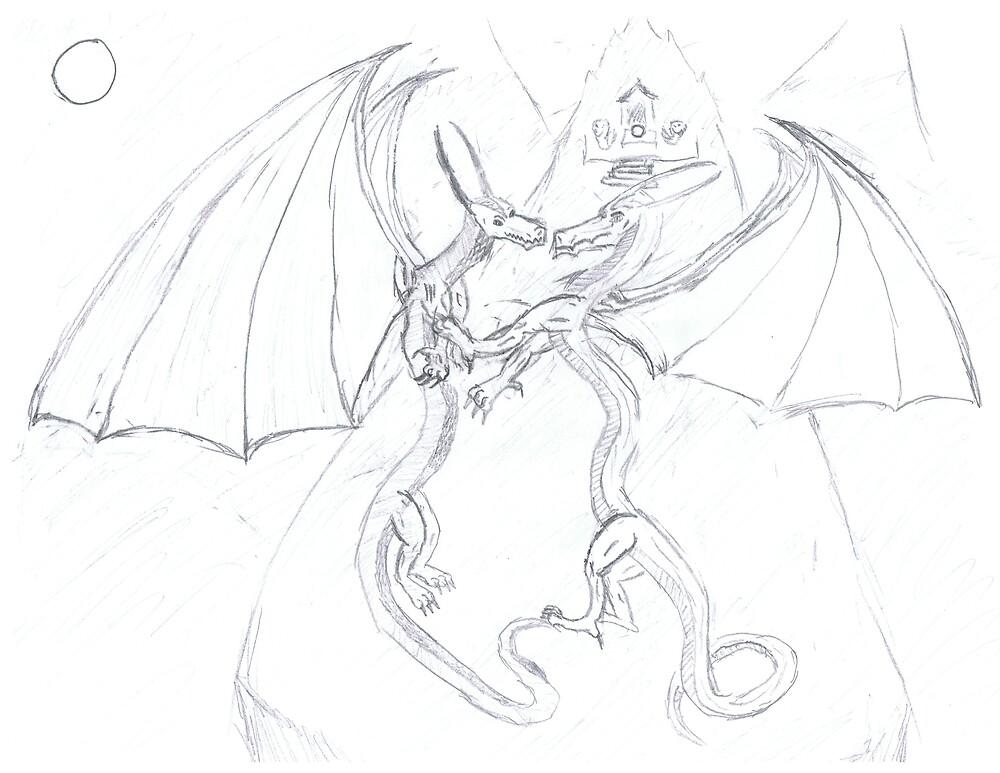 dragon fight by dragonart