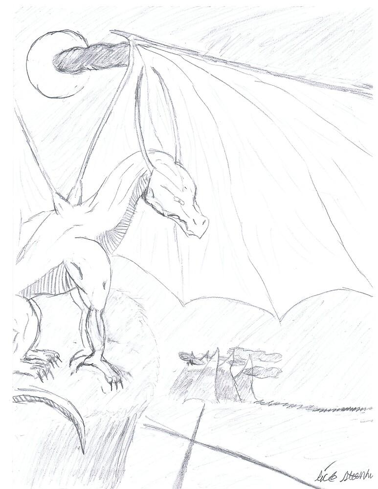dragon cliff by dragonart