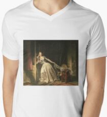 Jean-Honore Fragonard -  The Stolen Kiss Men's V-Neck T-Shirt