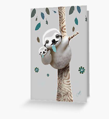 Baby Sloth Twilight Greeting Card