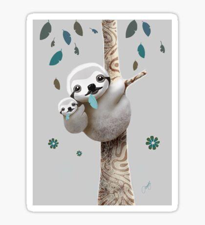 Baby Sloth Twilight Sticker
