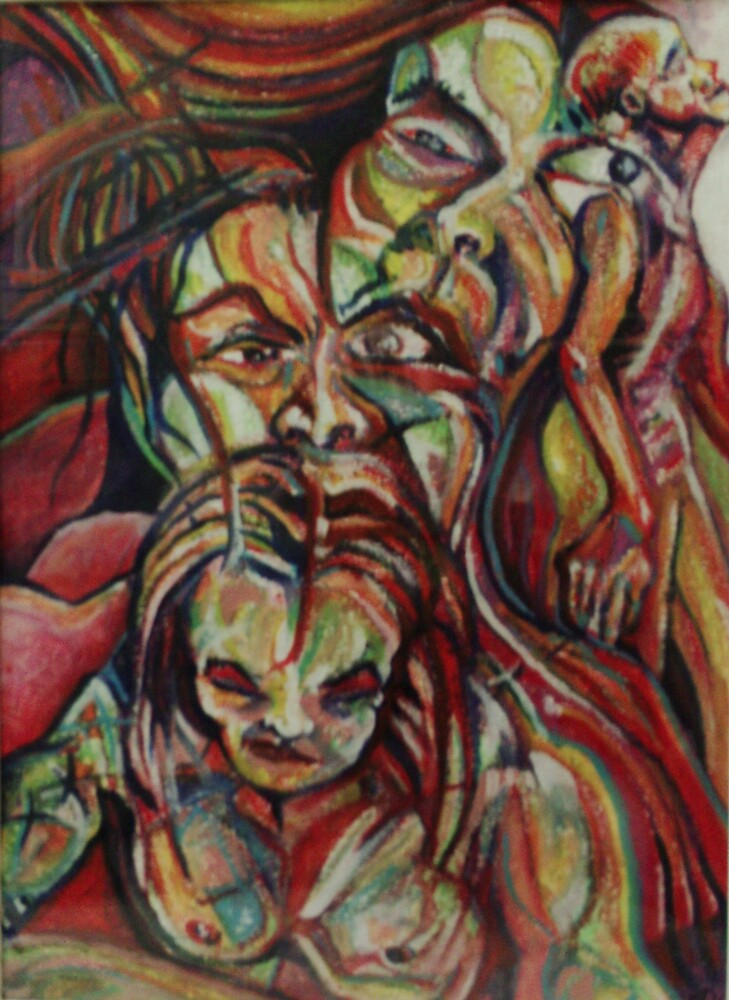 Seeking Inspiration (Mixed Media Oils)- by Robert Dye