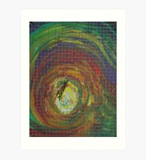 Epiphany (Oils with Wire Mesh)- Art Print