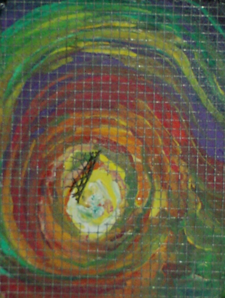 Epiphany (Oils with Wire Mesh)- by Robert Dye