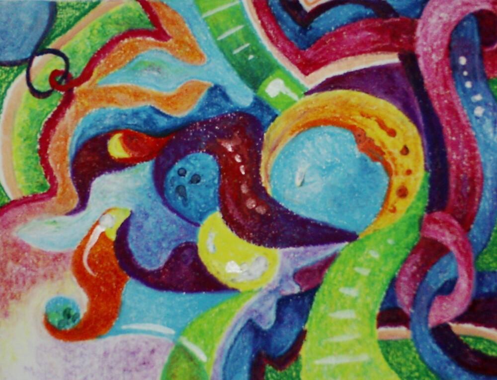Interlaced (Oil Pastels)- by Robert Dye