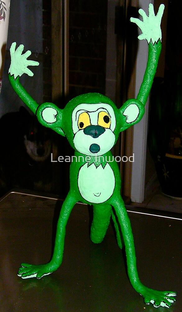 mache monkey by Leanne Inwood