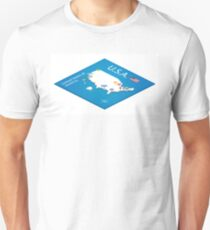 Isometric map of the USA - 3D Vector Illustration T-Shirt