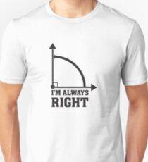 Lustiger Spaß-Mathe-Geometrie-rechter Winkel Slim Fit T-Shirt