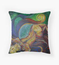 Sleeping Female Nude (Oils)- Throw Pillow