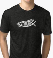 Cthulhu Fish Tri-blend T-Shirt