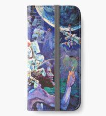Raumschiff Erde Wandgemälde iPhone Flip-Case/Hülle/Skin