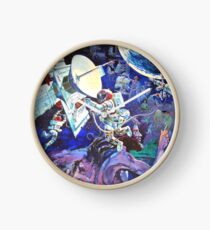 Spaceship Earth Mural Clock