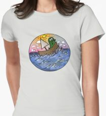 """ONWARD"" said the rex in a boat Womens Fitted T-Shirt"