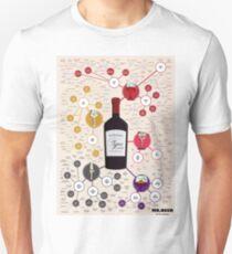 LITTLE MISS WINE - WINE CHART Unisex T-Shirt