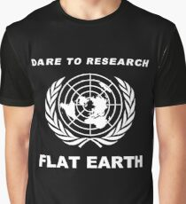 Dare to Research Flat Earth Graphic T-Shirt