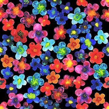 Frida Style flower pattern by ullithehat