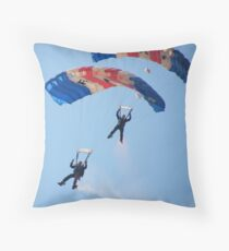 The RAF Falcons Freefall Parachute Display Team 5 Throw Pillow