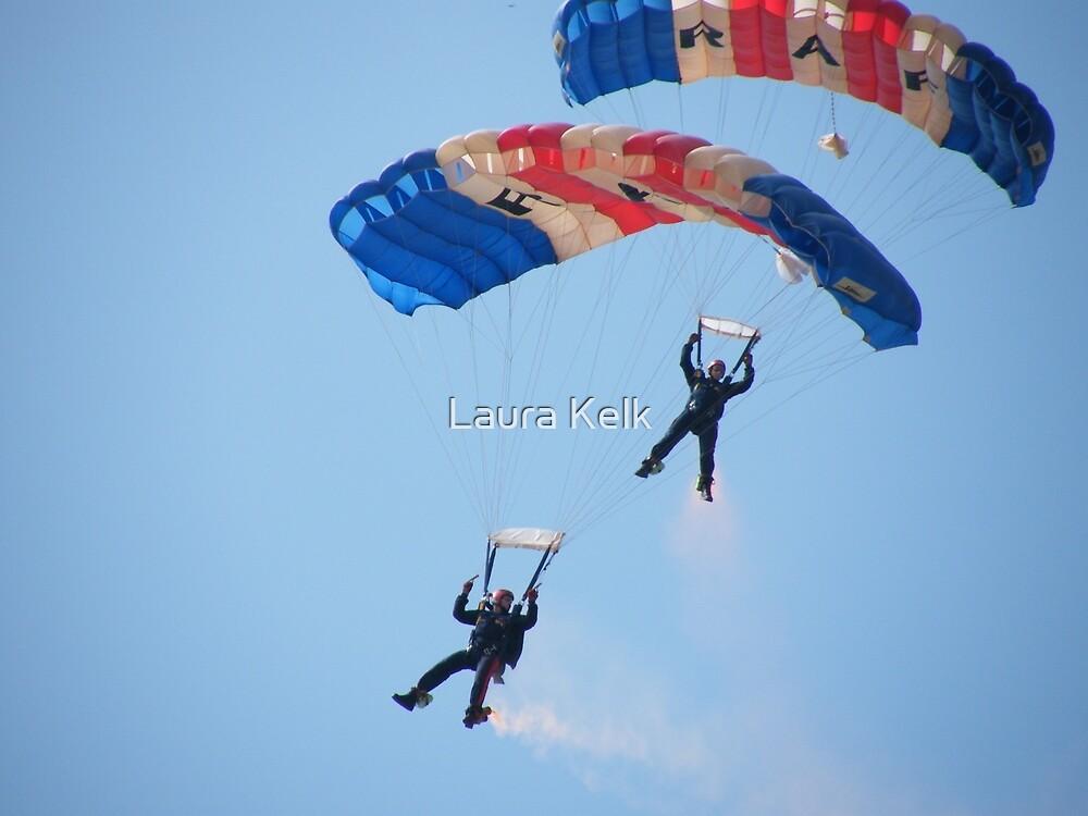 The RAF Falcons Freefall Parachute Display Team 5 by Laura Kelk