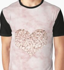Rose gold - heart Graphic T-Shirt