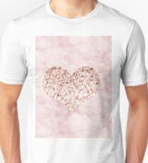 Rose gold - heart Unisex T-Shirt