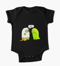 boo! look out, it's a ghost dinosaur One Piece - Short Sleeve