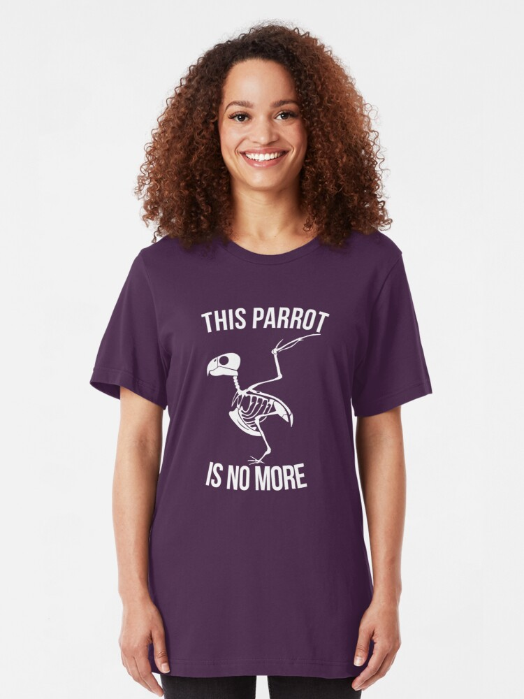 Alternate view of This Parrot Is No More Slim Fit T-Shirt
