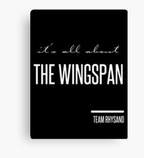 it's all about the wingspan Canvas Print