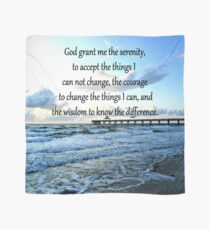 BEAUTIFUL SERENITY PRAYER OCEAN PHOTO DESIGN Scarf