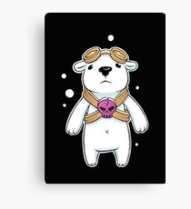 bear pilot Canvas Print