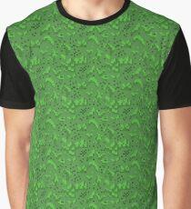 Pixel Grass Pattern Graphic T-Shirt