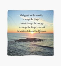 INSPIRING SERENITY PRAYER SUNRISE PHOTO Scarf