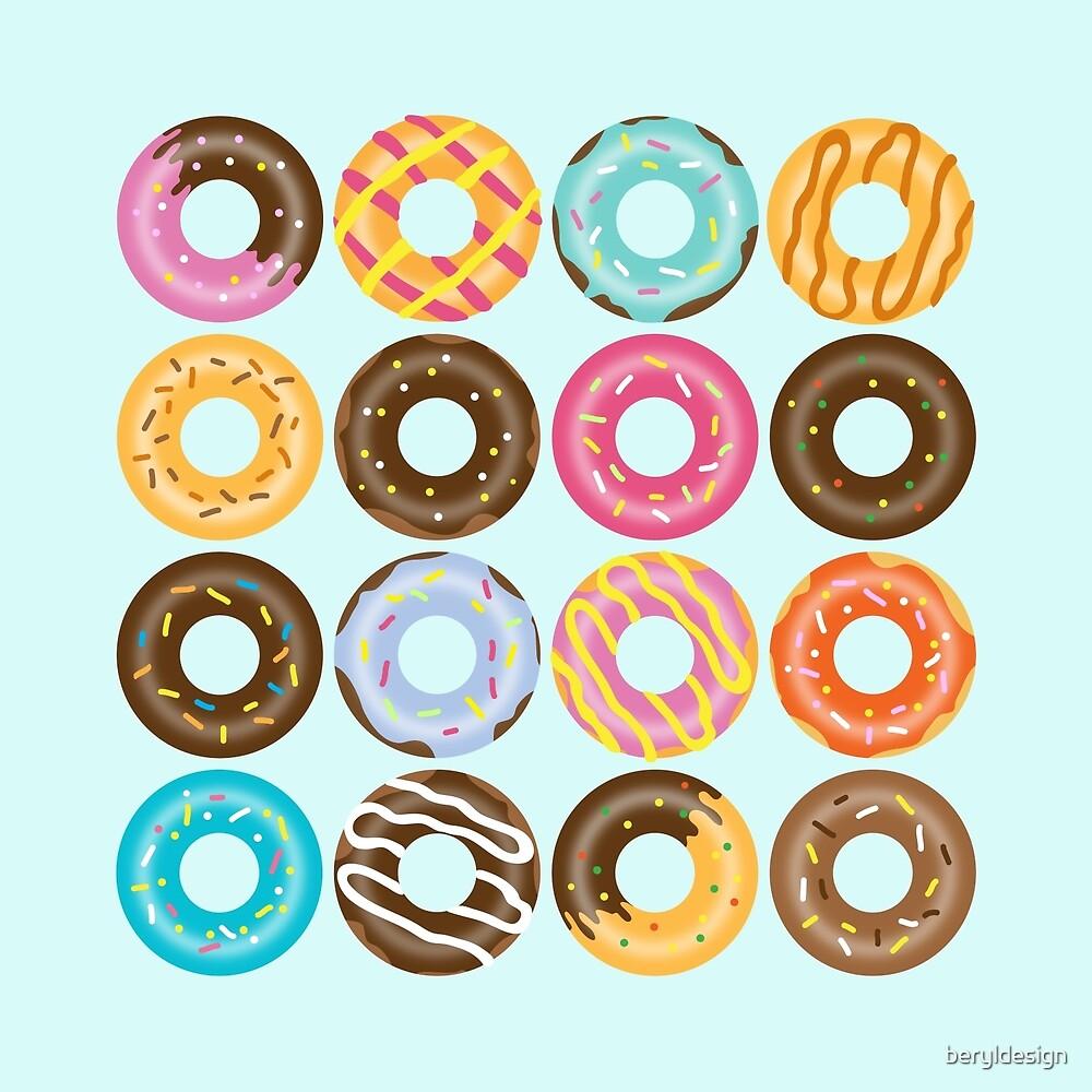 Donut Pattern by beryldesign